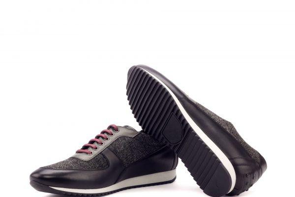Corsini - Painted Calf Black-Painted Calf Grey-Nailhead Black-Ang9