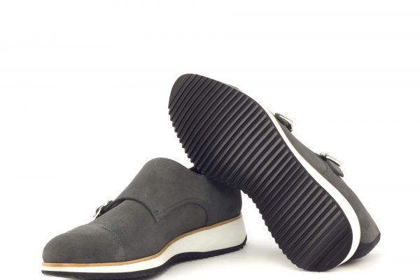 Double Monk - Lux Suede Grey-Lux Suede Black-Ang9