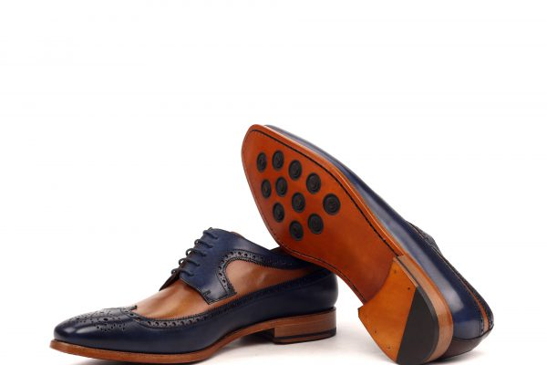 Longwing-Painted Calf- Navy And Brown-Ang9